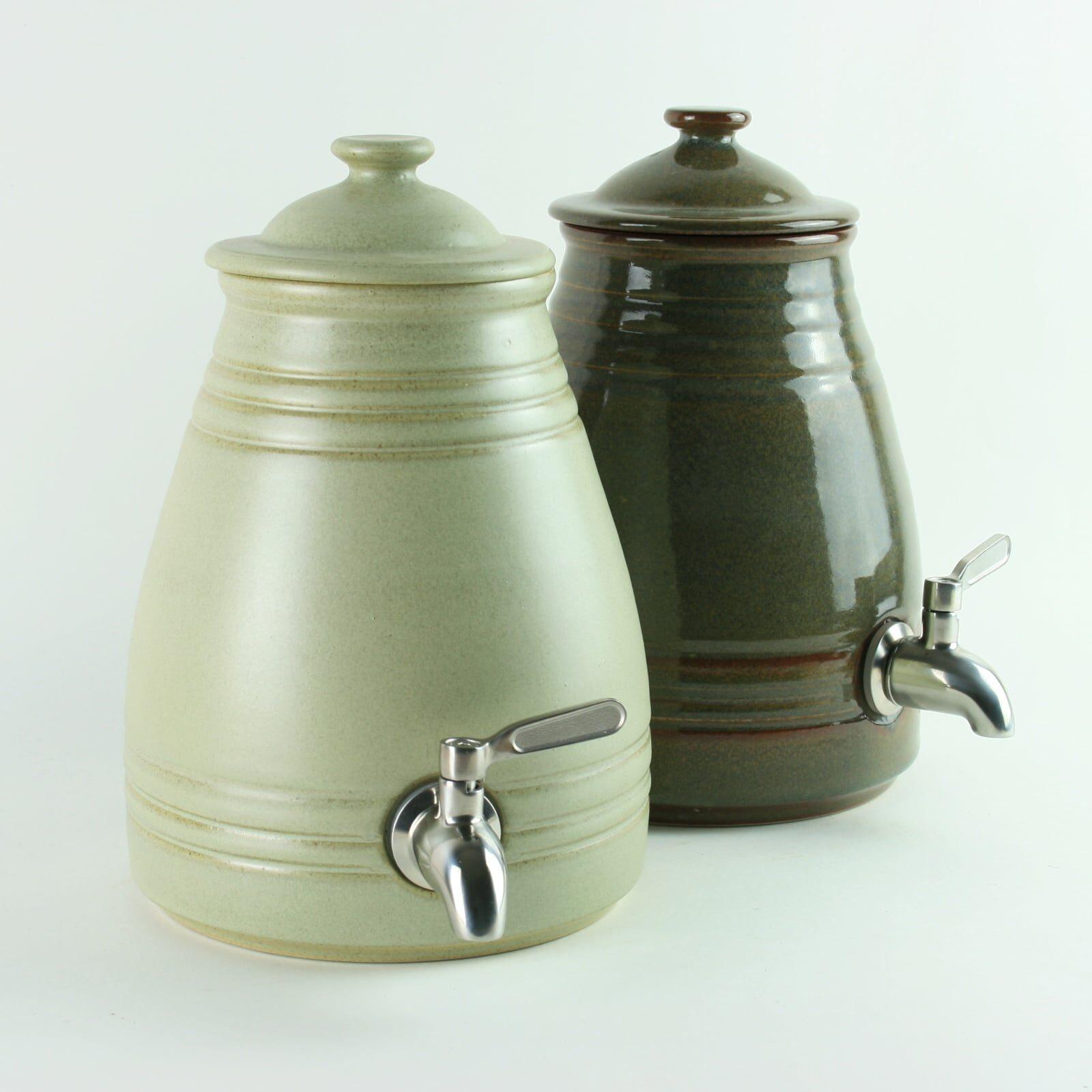 Hand Made 2 litre Ceramic Pot for Making Vinegar and Kombucha