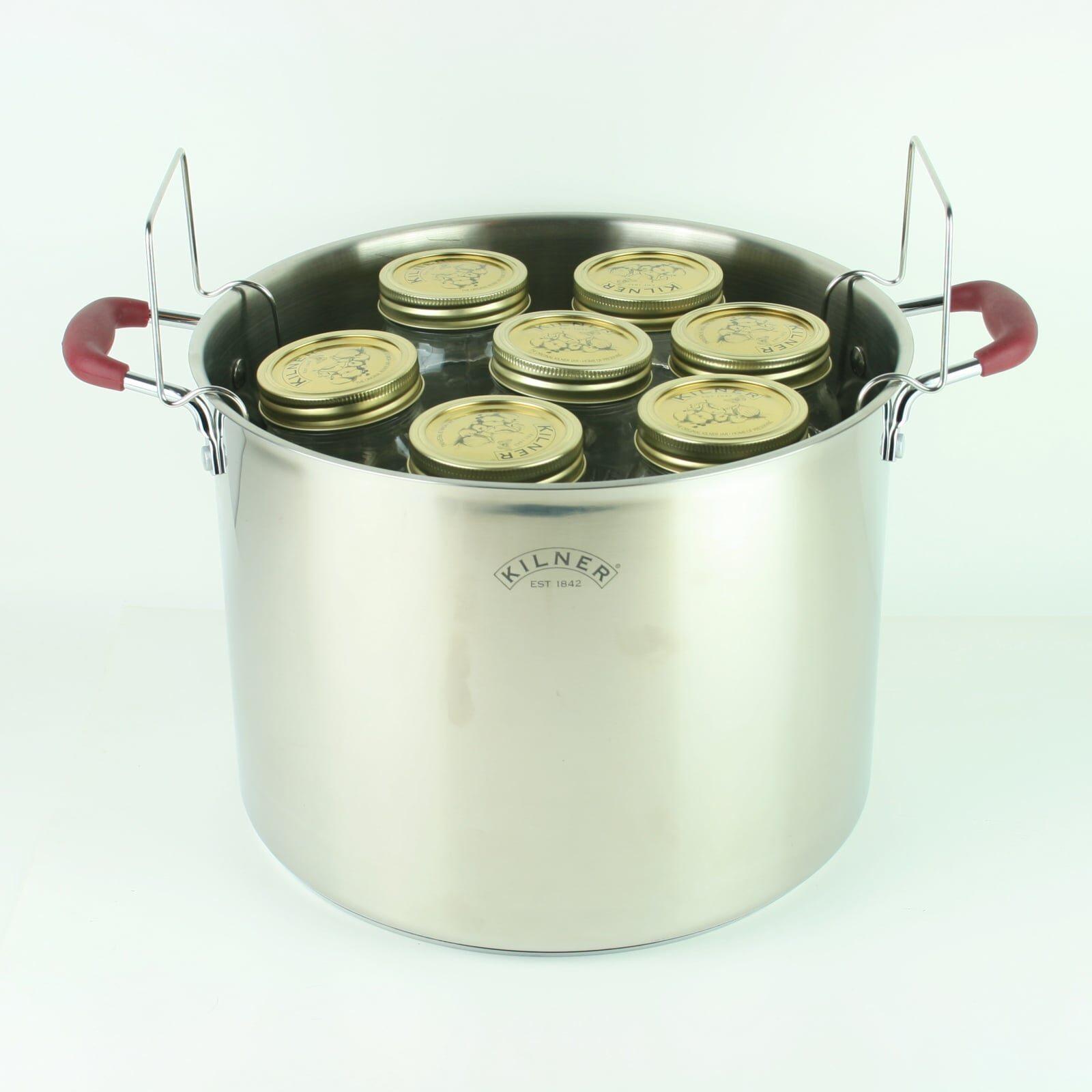 Kilner Canning Pan Canner Set with Rack for 7 500ml Preserve Jars