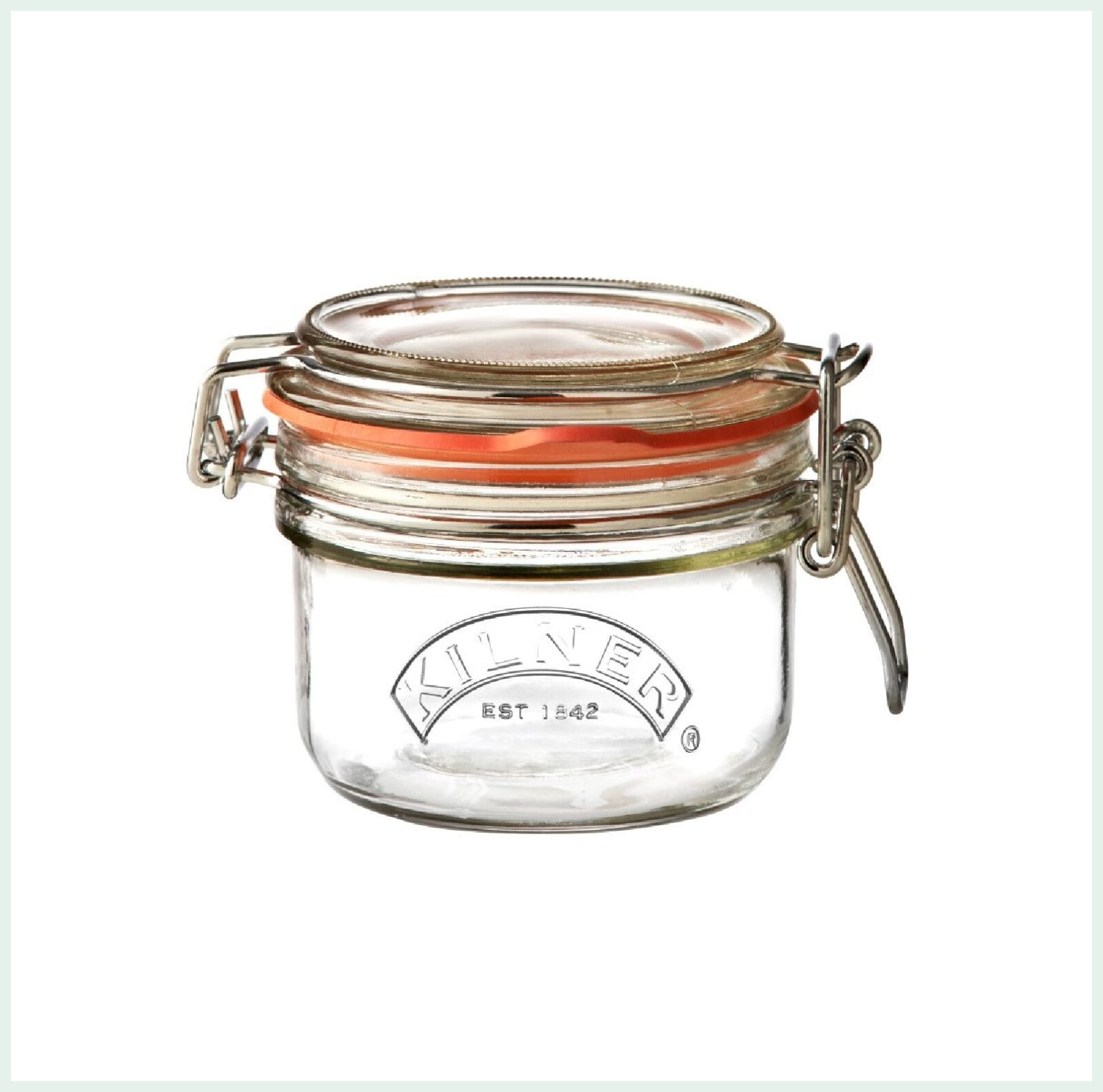 Kilner clip top jar 0.125 litre for preserving, jam making and canning