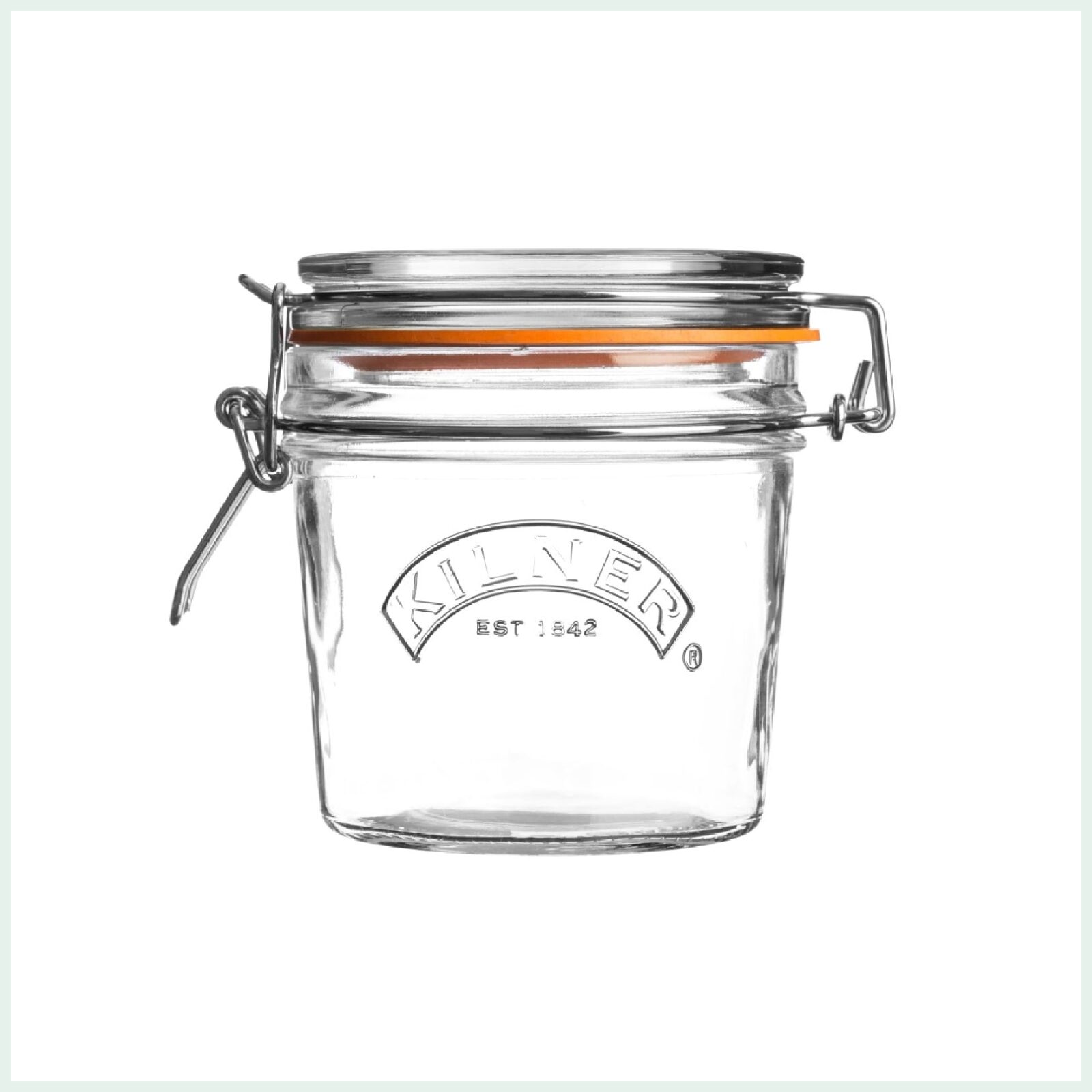 Kilner clip top jar 0.35 litres for preserving, jam making and canning