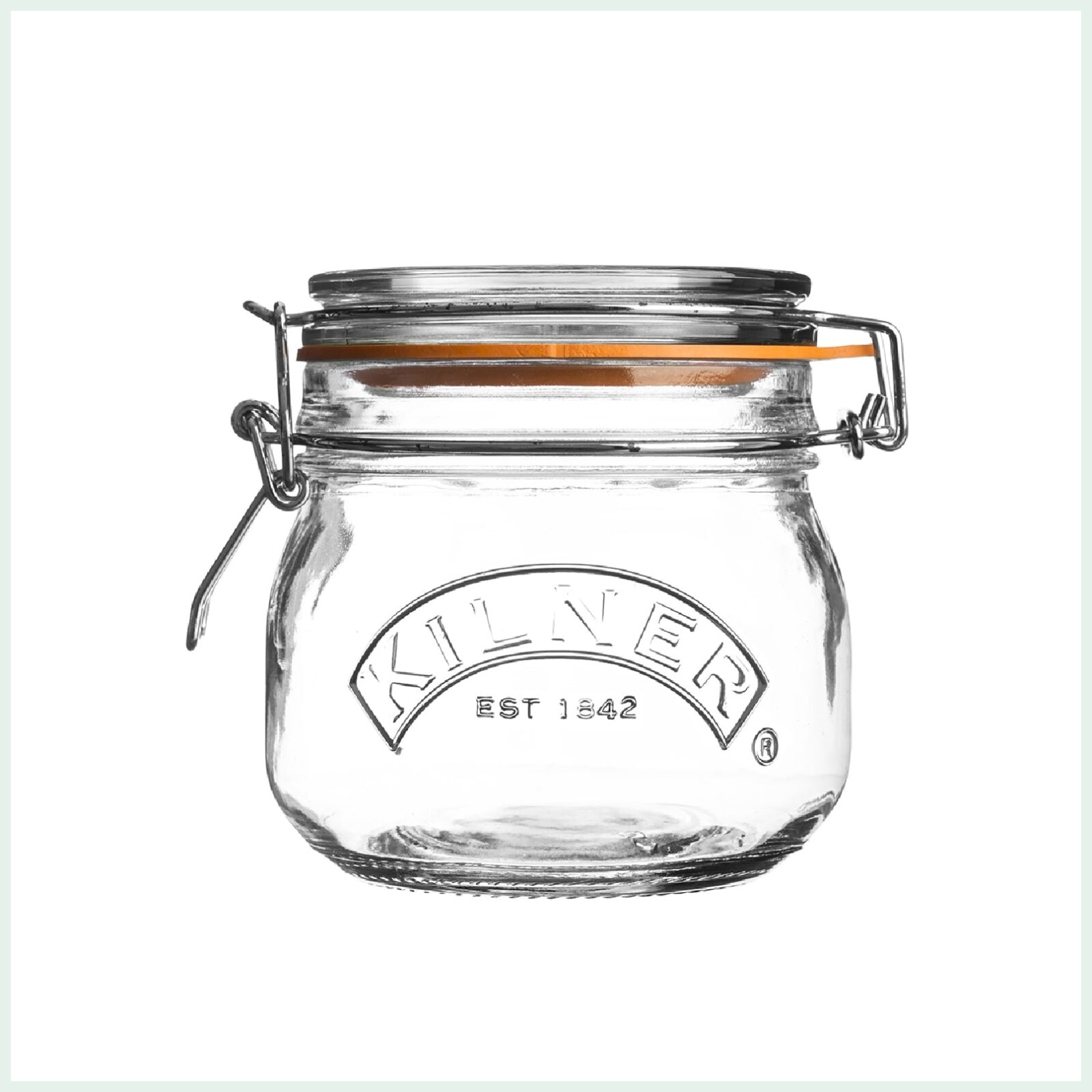 Kilner clip top jar 0.5 litre for preserving, jam making and canning