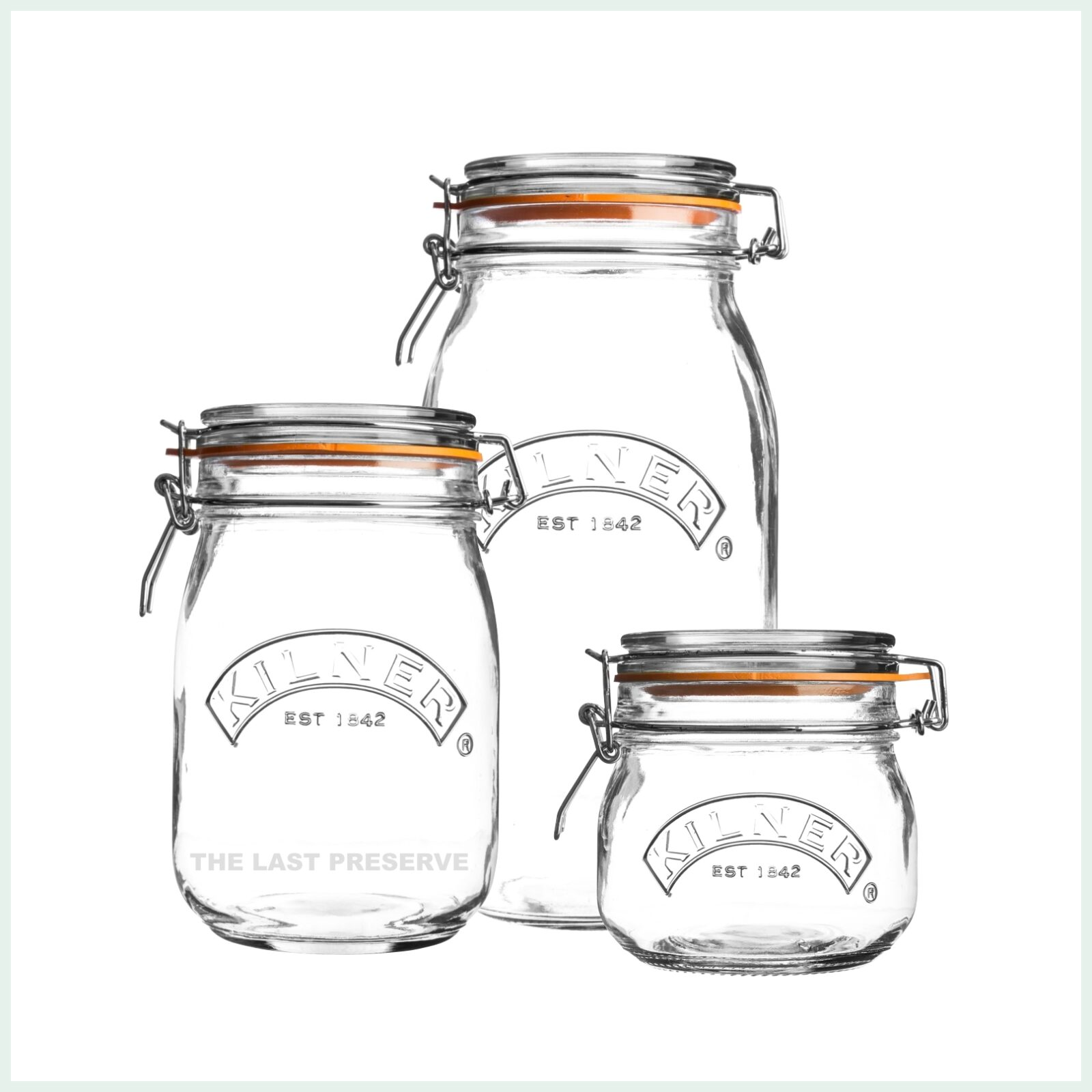 Kilner clip top jars for preserving, jam making and canning