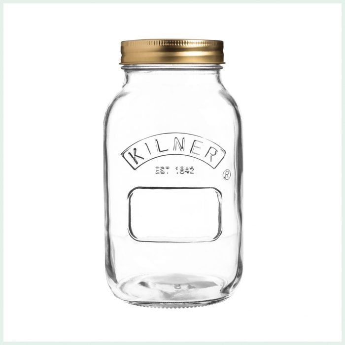 1 litre kilner screw top jars for preserving, jam making and water bath canning