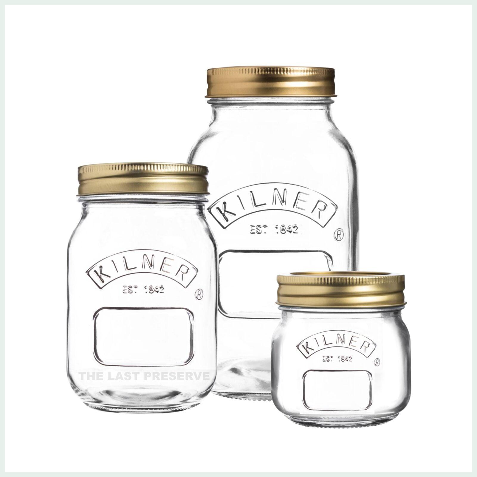 kilner screw top jars for preserving, jam making and water bath canning
