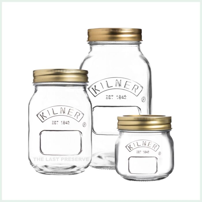 kilner screw top jars for preserving, jam making and water bath canning