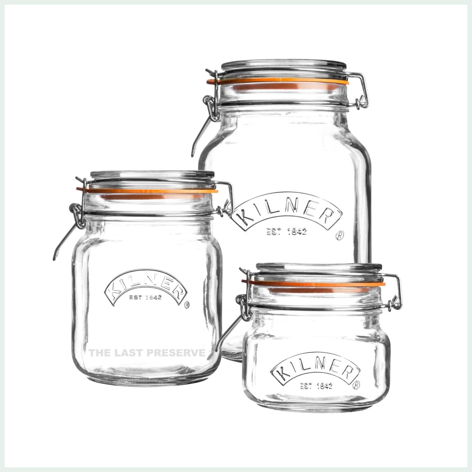 kilner square clip top jars for preserving, canning and jam making