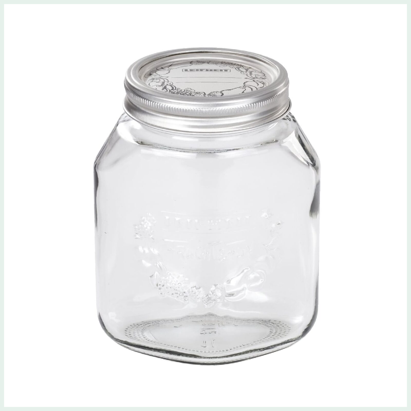 1 Litre Leifheit Wide Mouth Preserve Jar for Jam Making and Canning
