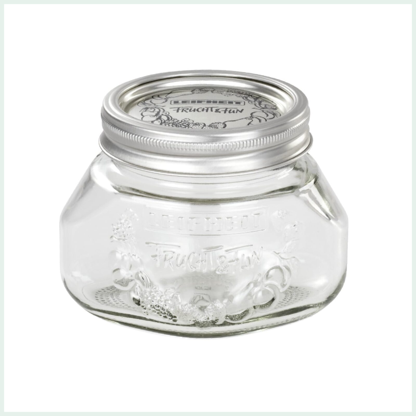 0.25 Litre Leifheit Wide Mouth Preserve Jar for Jam Making and Canning