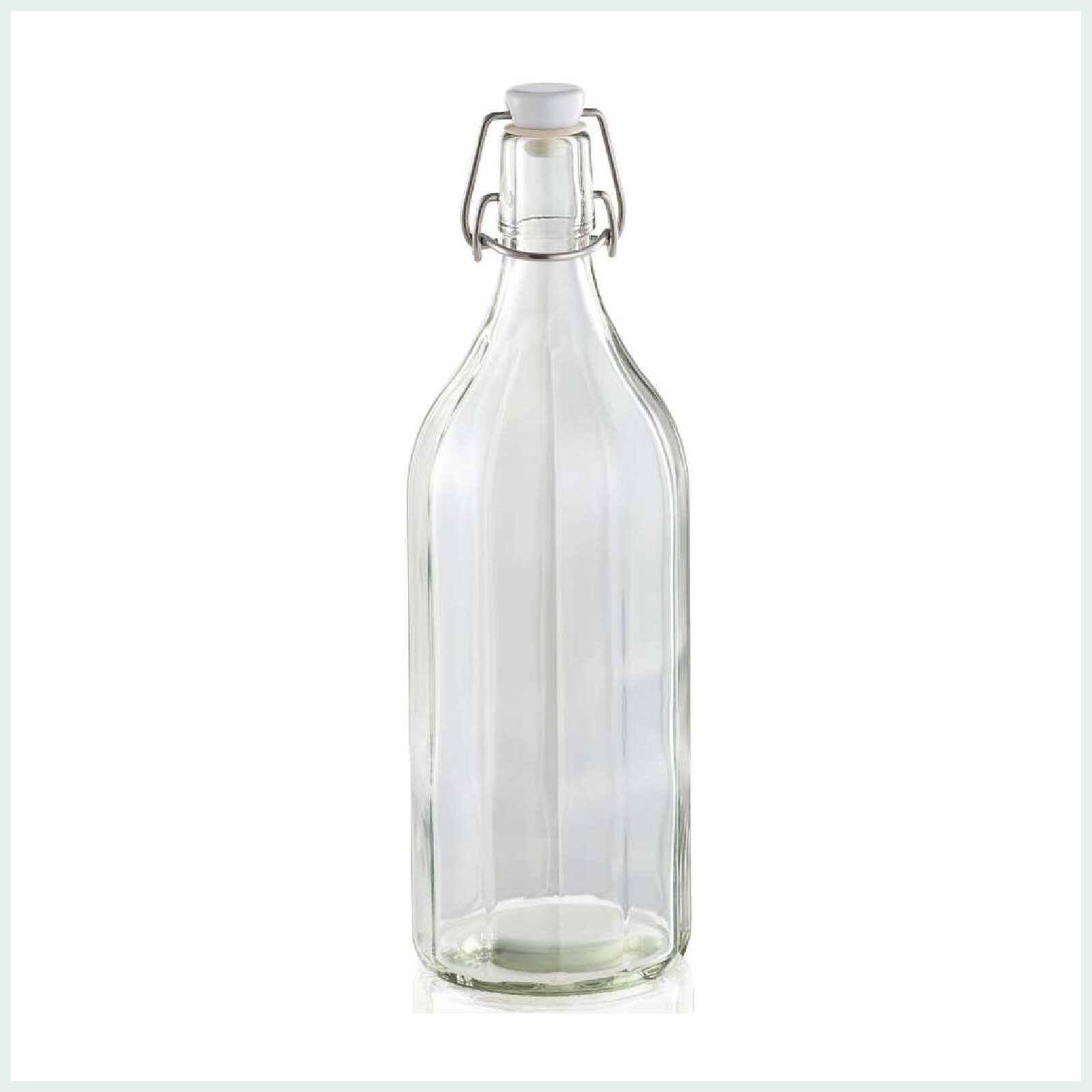 Leifheit preserve bottle with swing top closure and faceted design. Ideal for cordials and juices.