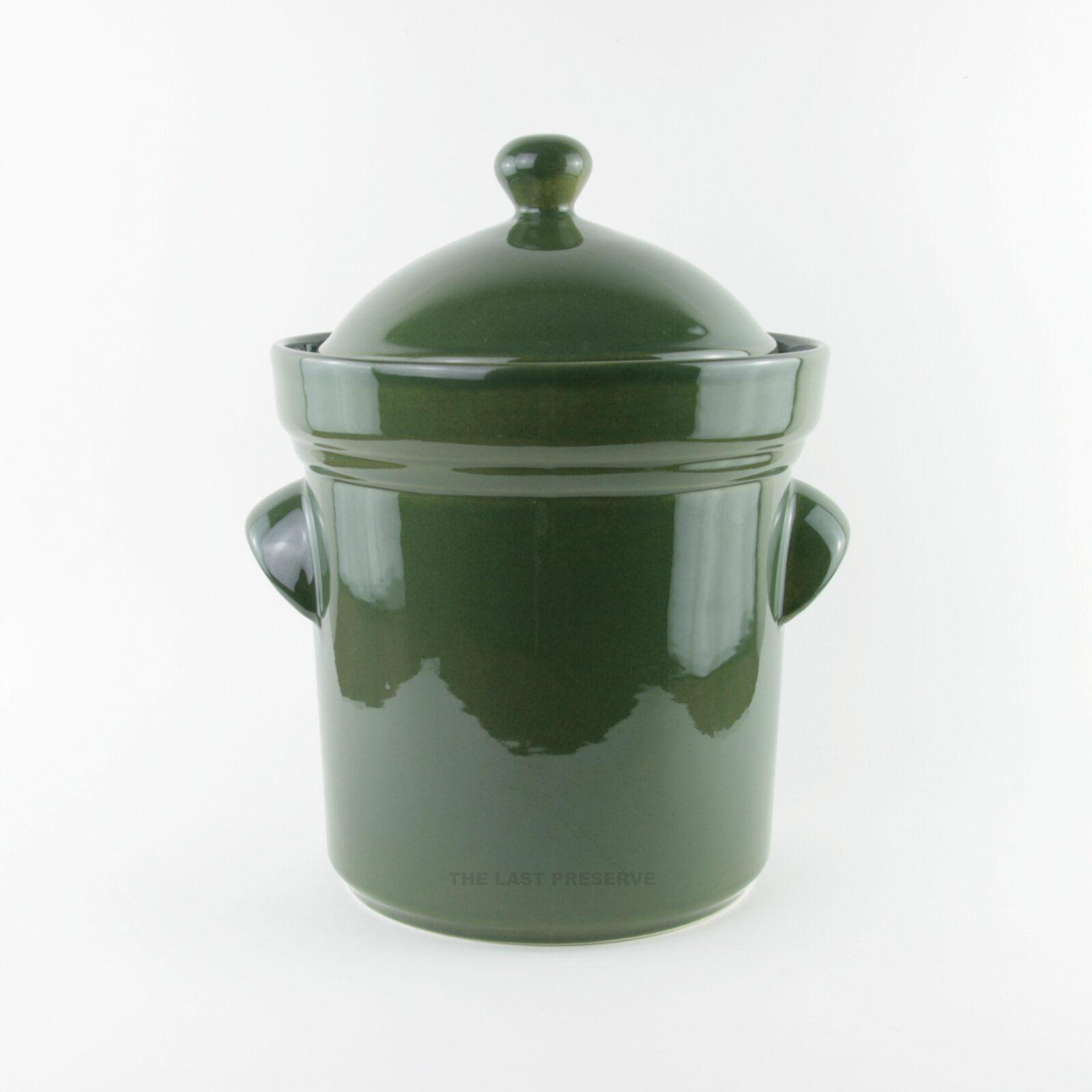 15 Litre green ceramic fermentation crocks by Zaklady Ceramiczne Boleslawiec
