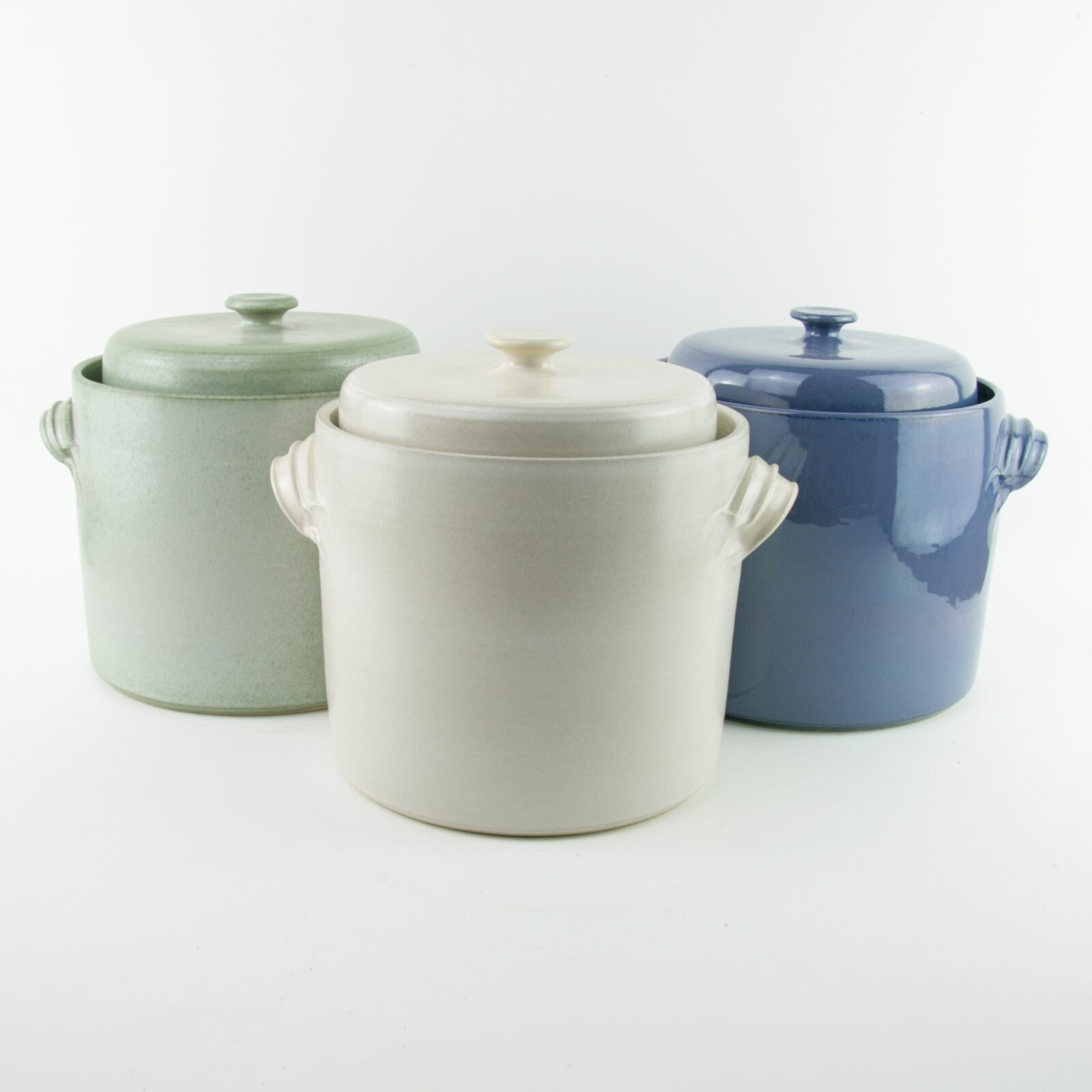 2 litre handmade ceramic sauerkraut crocks for making sauerkraut and kimchi