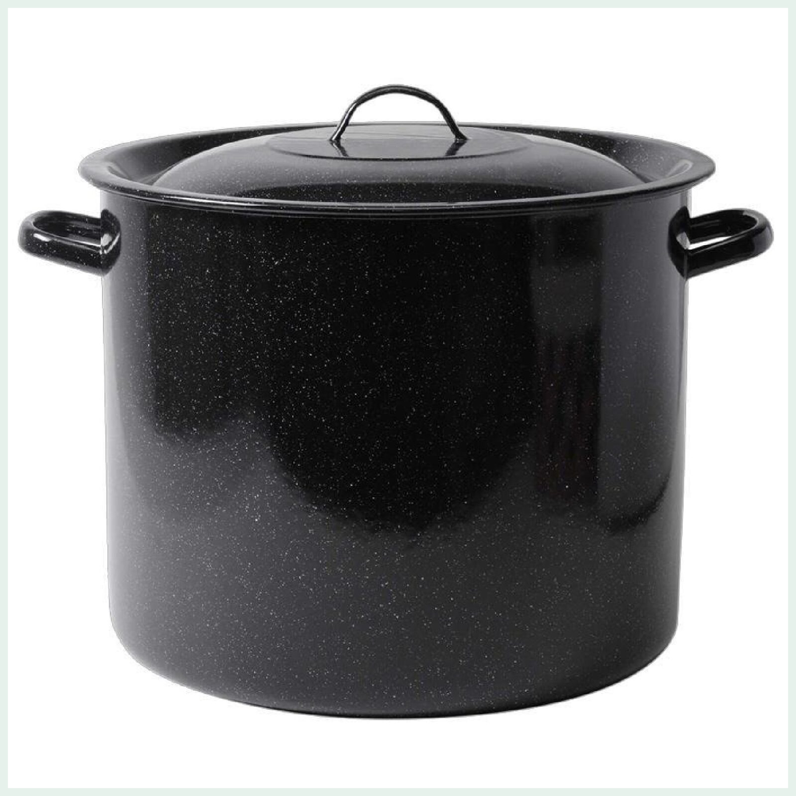 20 litre enamel stock pots ideal for canning, pasteurising and brewing.