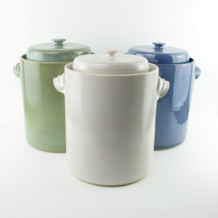 4 litre handmade ceramic sauerkraut crocks for making sauerkraut and kimchi