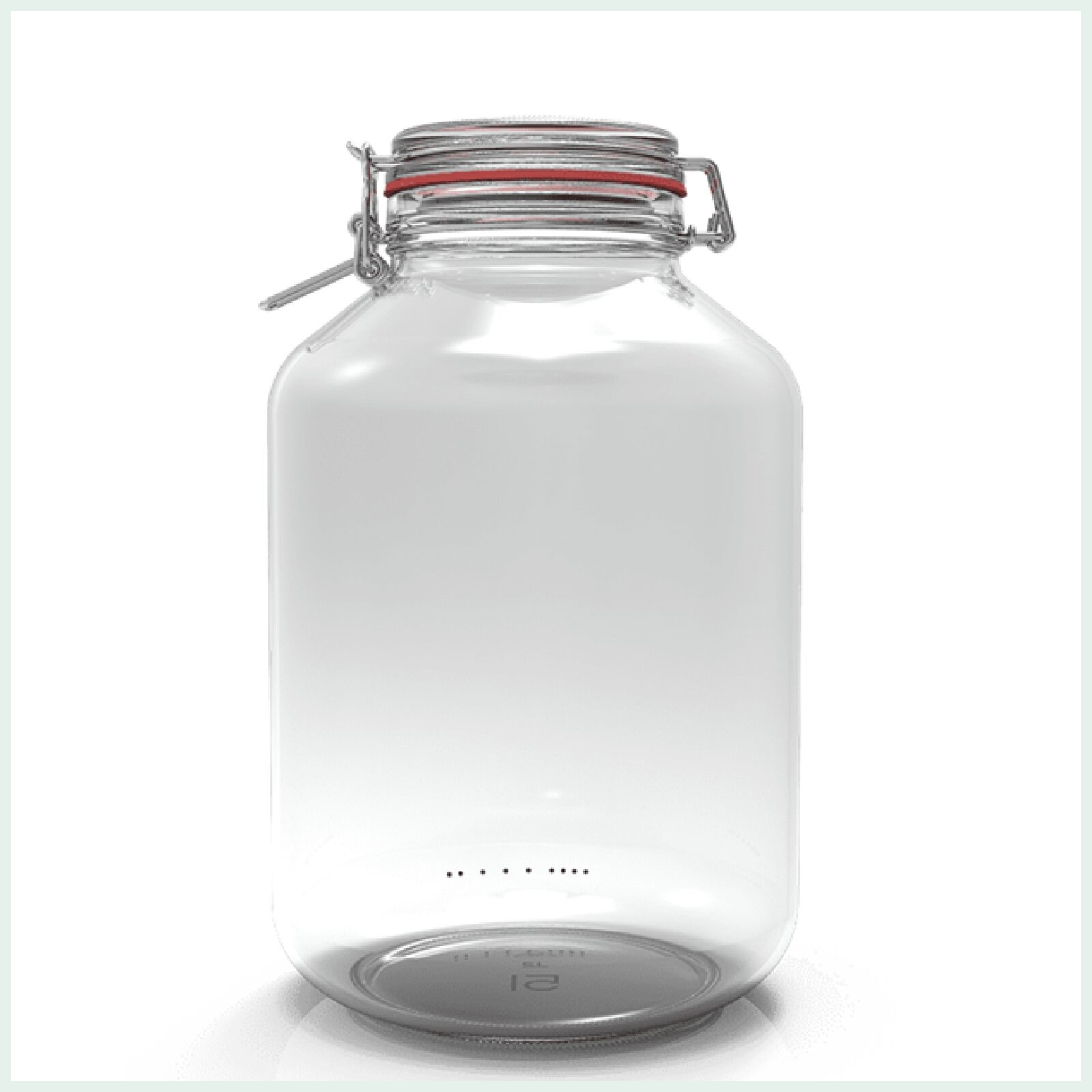 5 litre 1.3 gallon extra large clip top jar for pickling and cookies