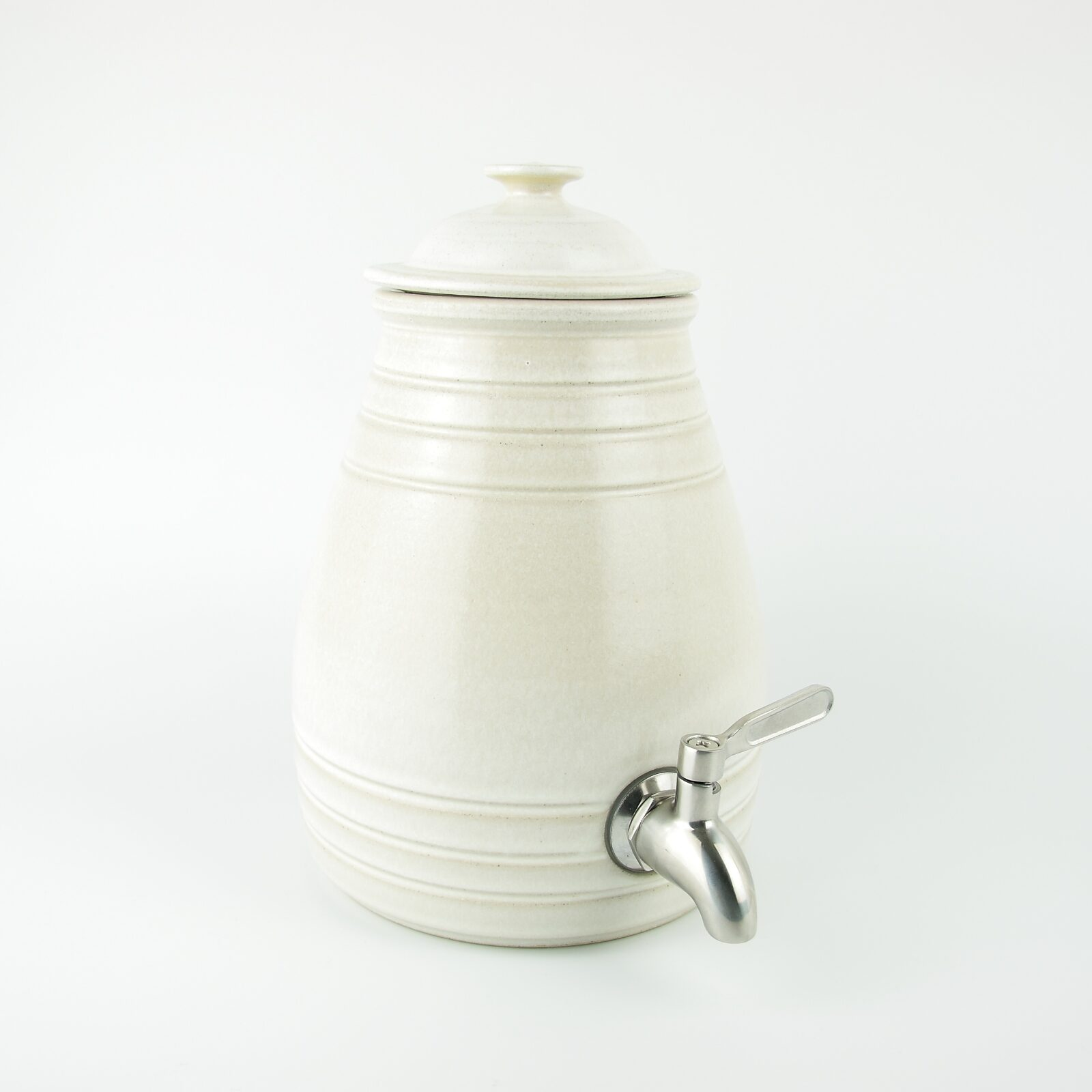 Hand Made 2 Litre Ceramic Vinegar Pot for Making Vinegar and Kombucha
