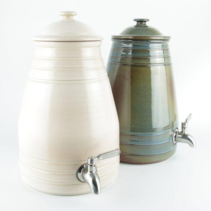 Hand made 4 litre ceramic vinegar pots and kombucha jars