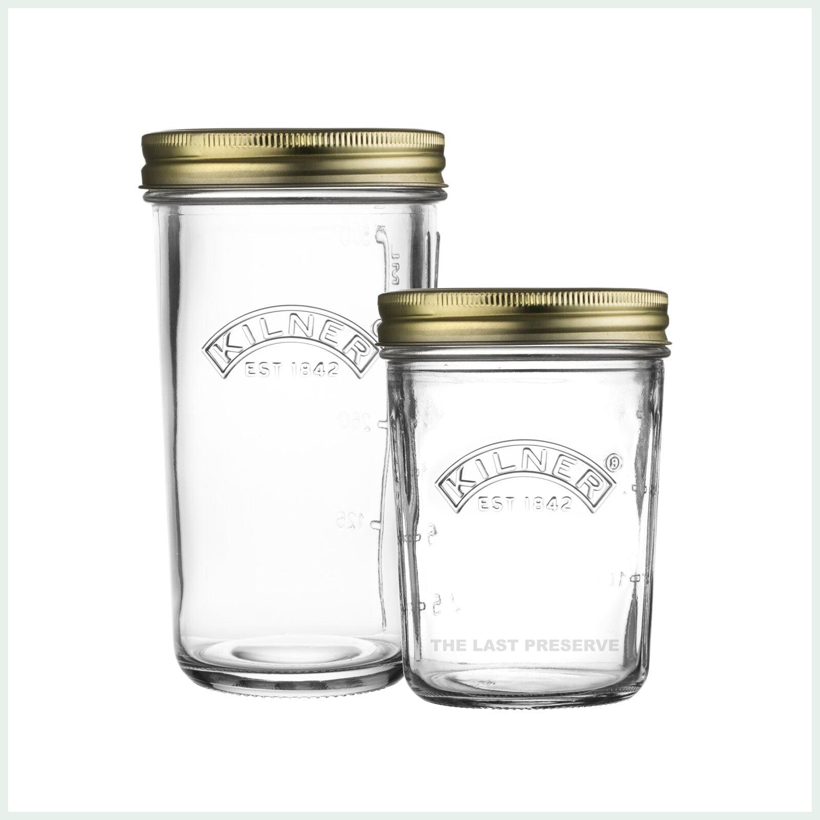 Kilner wide mouth preserve jars for canning and jam making
