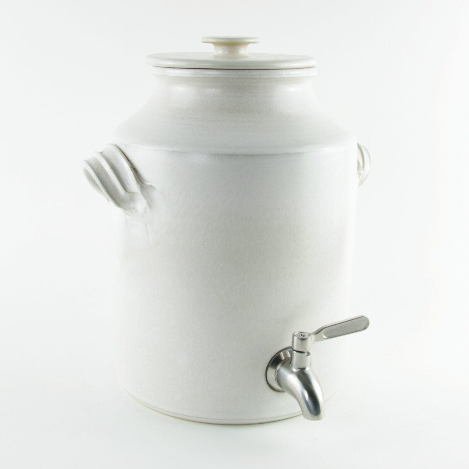 Large ceramic kombucha crock 4 litres